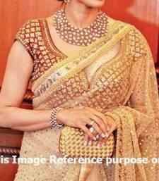 Buy Bollywood Sridevi Golden Saree sridevi-saree online