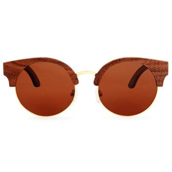 Amadore Mocha Cat eyed Wooden Sunglasses