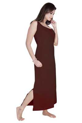 Ladies Off Sleeves Knitted Jersey Ankle Length Nighty.