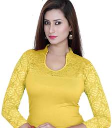 Lemon solid  stretch stitched blouse
