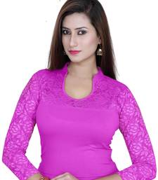 Magenta solid  stretch stitched blouse