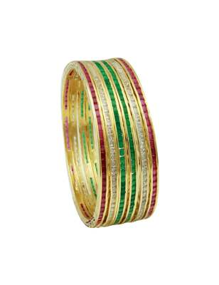 Multi Colour CZ AD American Diamond Bangles