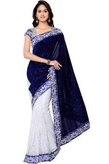 696d69c354ac2f Blue Sarees - Buy Designer Blue Color Saree online @ Best Prices