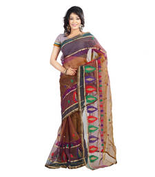 Buy Multicolor Embroidered Tissue Saree With Blouse tissue-saree online