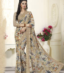 Multicolor Floral Printed Georgette Saree With Blouse