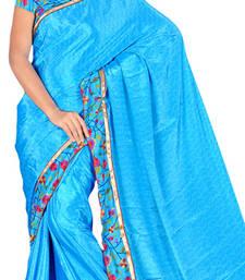 Buy blue crepe-saree online