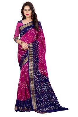 Multicolor hand woven art silk sarees saree with blouse