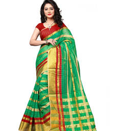 Buy Multicolor hand woven art silk saree with blouse