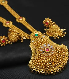 Gorgeous Copper Base Gold Plated Necklace Set
