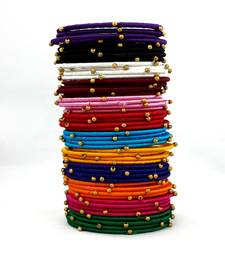 Buy Stylish and Elegant Multicolor Silk thread bangle 2.6 (48 PCS) bangles-and-bracelet online