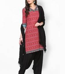 Black Solid Patiala Salwar With Dupatta - PAT1