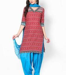 Blue Solid Patiala Salwar With Dupatta - PAT2