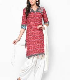 Off White Solid Patiala Salwar With Dupatta - PAT6
