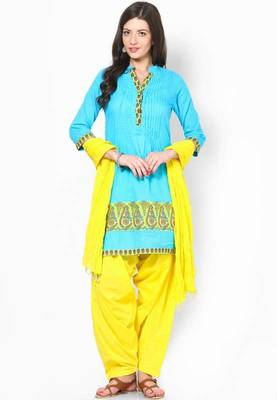 Yellow Solid Patiala Salwar With Dupatta - PAT10