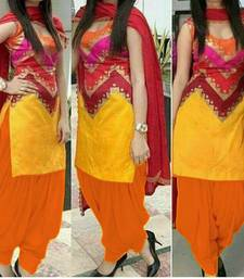 Buy multicolor crepe printed unstitched salwar with dupatta punjabi-suit online
