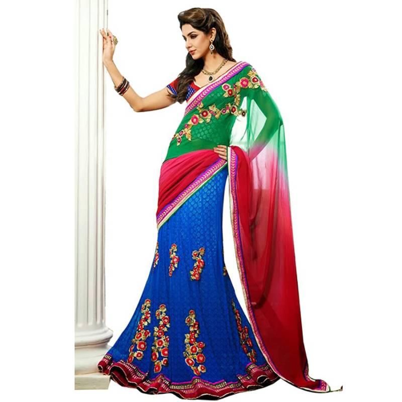 Lehenga saree online shopping myntra women