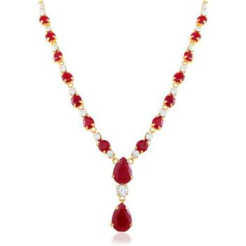 Oviya Gold Plated Charismatic Pendant With Crystal For Women PS2193114G