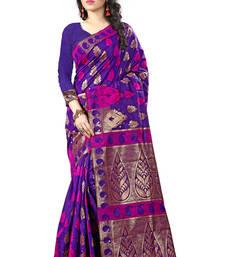 Buy Navy blue woven art silk saree with blouse kareena-kapoor-saree online