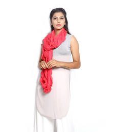 aa48ace82091ee Buy Coral Georgette stole and dupattas stole-and-dupatta online