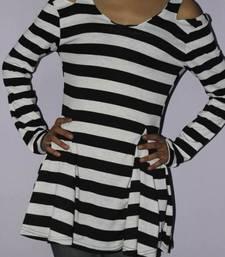 Buy Black and white off shoulder dress dress online
