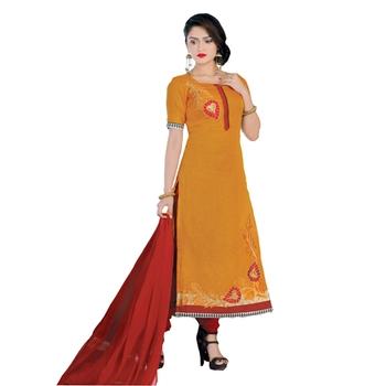 094c3da584 Mustard resham embroidery chanderi salwar with dupatta - DEEPAK ...