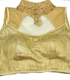 Buy Beige Banglore Silk Crystal stitched blouse readymade-blouse online