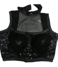 Buy Black Net Sequins stitched blouse readymade-blouse online