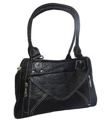 Buy Black P.U plain handbags handbag online