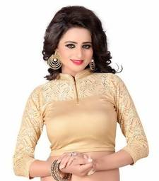 Buy Golden Simmer Lycra Plain stitched blouse readymade-blouse online
