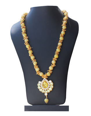 Yellow crystal necklaces