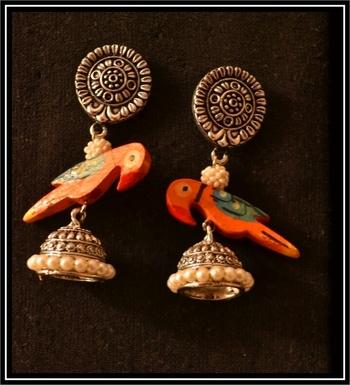 Pearl Handcrafted Semi-Precious Bead Earrings