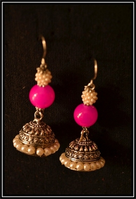 Pearl Handcrafted Semi-Precious Bead Earrings