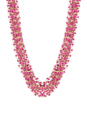 Pink Beaded Multistrand Necklace
