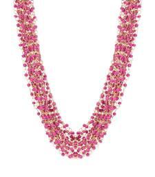 Buy Pink beaded multistrand necklace necklace-set online