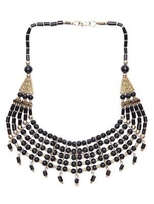 Black Pearls Beaded Handmade Necklace