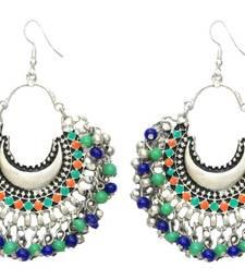 Banjara Multicolored Chandbalis - Silver danglers-drop