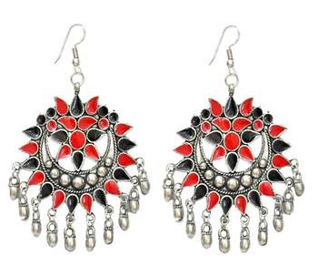 The Multicolored Floral Banjara Earrings