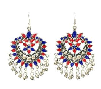 The Multicolored Tapeze Banjara Earrings