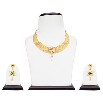 Yellow cubic zirconia necklace-sets