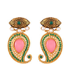 Pink Golden Onyx Pearl Beautiful Earring