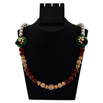 Eid Festive Kundan Mala Necklace Set