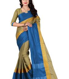 Buy Multicolor printed silk saree with blouse below-1500 online