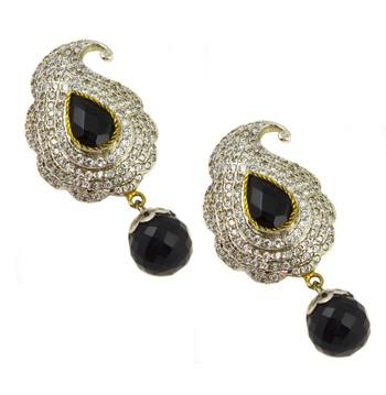 Paisley shape earring -Black