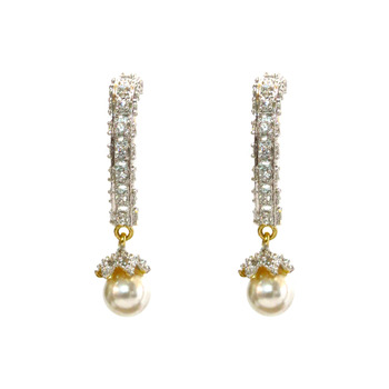 Pearl drop loop earring