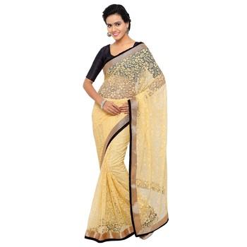 beige brasso brasso saree with blouse