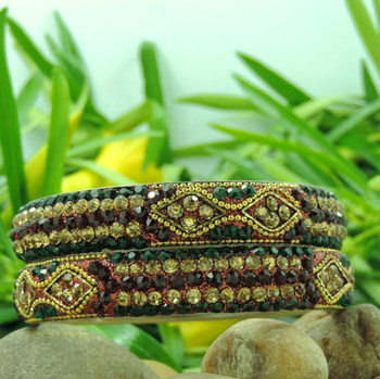 RAJASTHANI handmade Bangle (Red/Green)