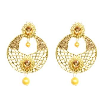 Gold Diamond jewellery gemstone-earrings