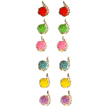 Multicolor studded_jewellery gemstone-earrings