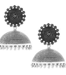 Filigree Large Statement Antique Plated Oxidized German Silver Jaipur Jhumki Earring For Girls Women