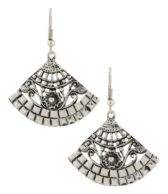Dainty Indian Jaipur Fancy Oxidized German Silver Jhumki Earring for Women